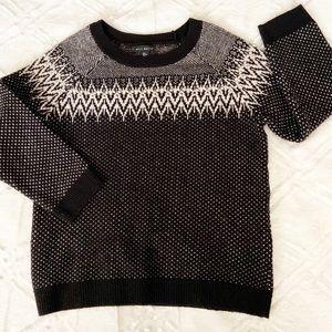 Willi Smith Sweater Lambs Wool Fair Isle Nordic